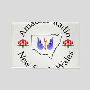 Amateur Radio NSW Logo Rectangle Magnet