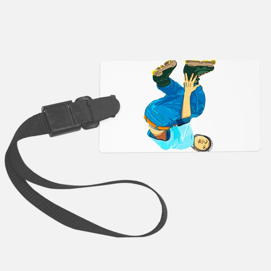 Rollerblading Luggage Tag