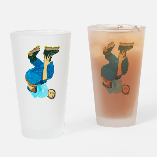 Rollerblading Drinking Glass