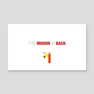 The moron is back Rectangle Car Magnet