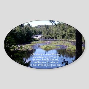 Jabez Prayer Oval Sticker