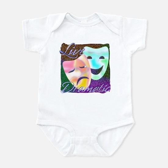 Live Dramatic Thespian Drama Infant Bodysuit