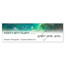 Pleiadian Renegades Bumper Sticker: Remember