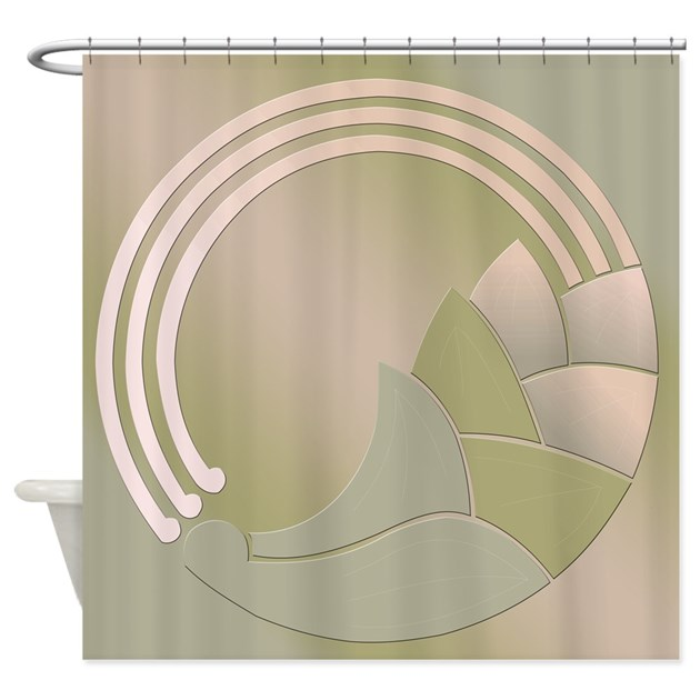 Art Deco Circle Of Life Shower Curtain By Cultper