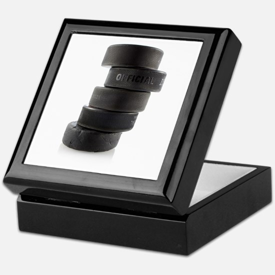 Official Ice Hockey Pucks Keepsake Box