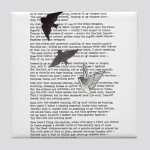 The Raven poem, Edgar Allan Poe poetry Tile Coaste