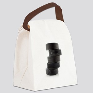 Official Ice Hockey Pucks Canvas Lunch Bag