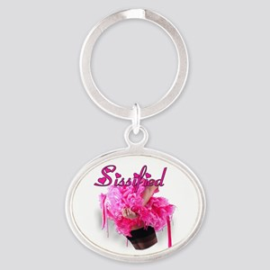 Sissified Oval Keychain
