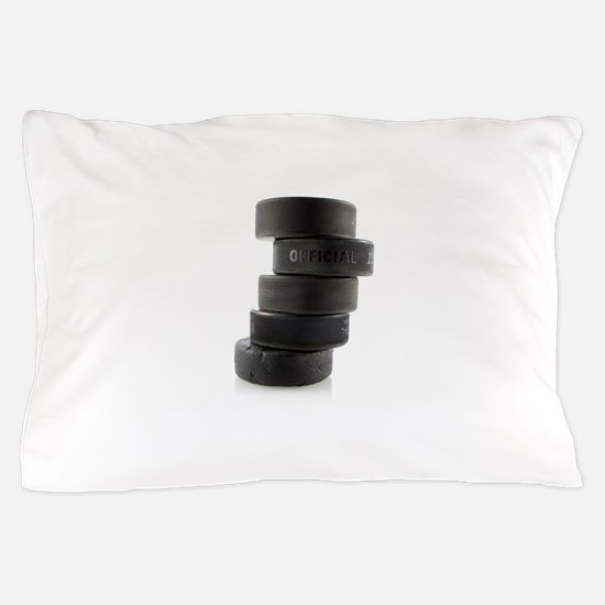 Official Ice Hockey Pucks Pillow Case