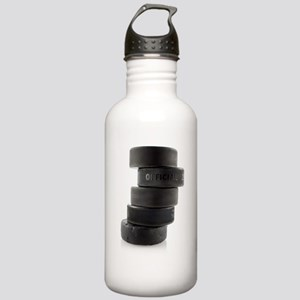 Official Ice Hockey Pucks Water Bottle