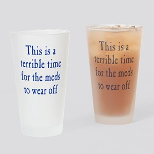 Time for Meds to Wear Off Drinking Glass