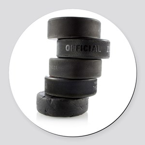 Official Ice Hockey Pucks Round Car Magnet