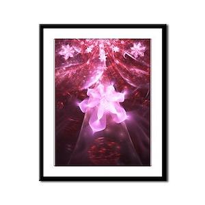 Pink Flower Framed Panel Print
