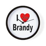 I Love Brandy Wall Clock
