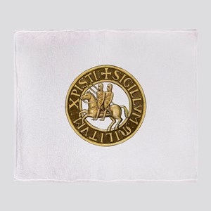 Templar seal Throw Blanket