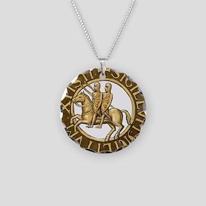 Templar seal Necklace Circle Charm