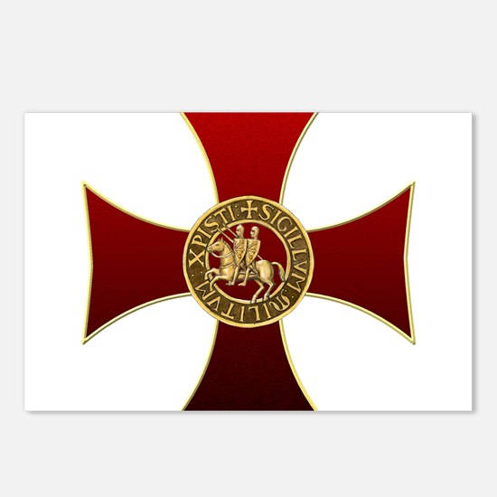 Templar cross and seal Postcards (Package of 8)