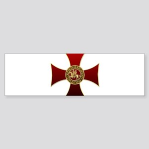 Templar cross and seal Bumper Sticker