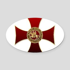 Templar cross and seal Oval Car Magnet