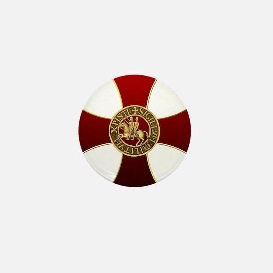 Templar cross and seal Mini Button