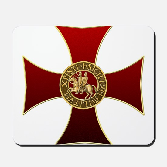 Templar cross and seal Mousepad