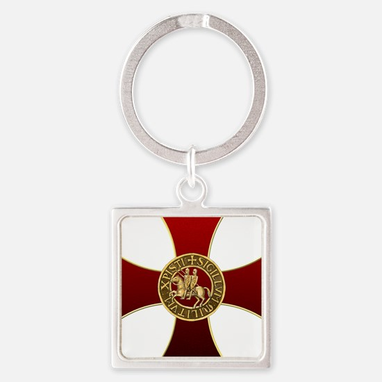 Templar cross and seal Keychains