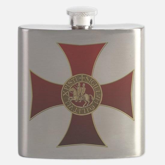 Templar cross and seal Flask