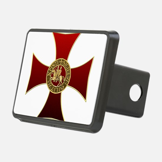 Templar cross and seal Hitch Cover