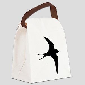 Swallow bird Canvas Lunch Bag