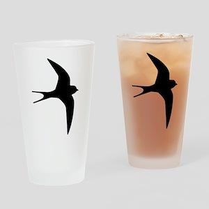 Swallow bird Drinking Glass