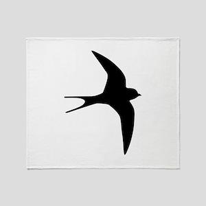 Swallow bird Throw Blanket