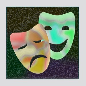 Drama Thespian Masks Tile Coaster