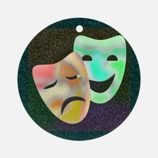 Drama Thespian Masks Ornament (Round)