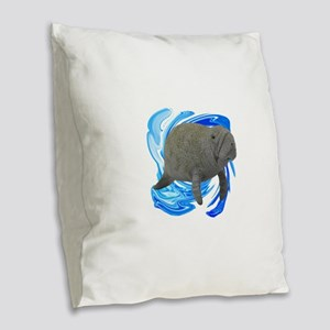 THE YOUNG ONE Burlap Throw Pillow