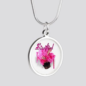 Sissified Silver Round Necklace