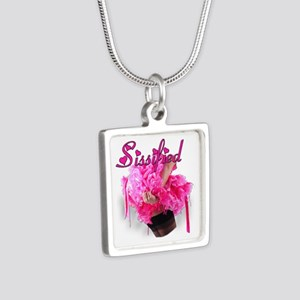Sissified Silver Square Necklace