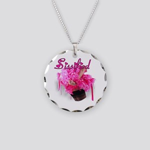 Sissified Necklace Circle Charm