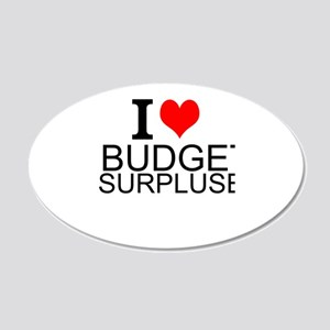 I Love Budget Surpluses Wall Decal