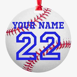 Personalize It, Baseball Christmas Ornament