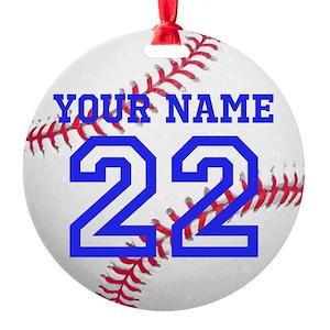 baseball gifts cafepress - Baseball Christmas Ornaments