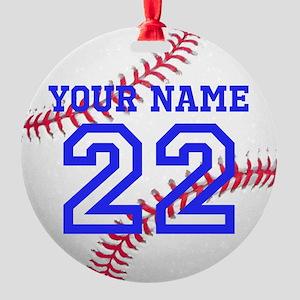 personalize it baseball christmas ornament