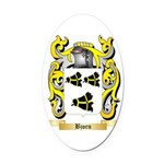 Bjorn Oval Car Magnet