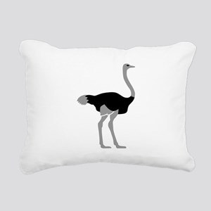 Ostrich Rectangular Canvas Pillow