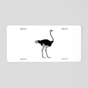 Ostrich Aluminum License Plate