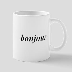 Bonjour Small Mug