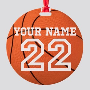 Personalize It, Basketball Christmas Ornament