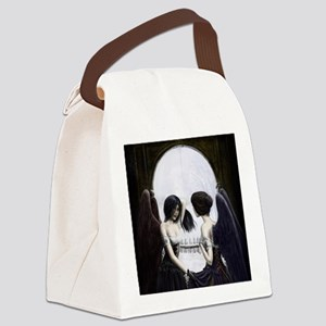 skull illusion square Canvas Lunch Bag