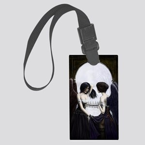 skull illusion square Luggage Tag