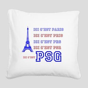 Ici cest PSG Square Canvas Pillow