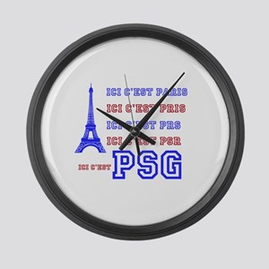 Ici cest PSG Large Wall Clock